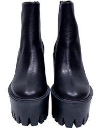 Stella McCartney - Boots en cuir - Lyst