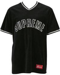Supreme - Black Cotton T-shirt - Lyst