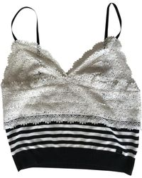 Chanel - White Viscose Top - Lyst