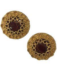 Loewe - Gold Metal Earrings - Lyst