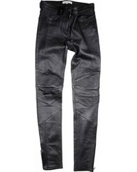Sandro - Black Leather Trousers - Lyst
