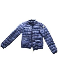 Moncler - Blue Synthetic Coat - Lyst