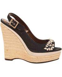 Roberto Cavalli - Pre-owned Cloth Sandal - Lyst