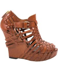 Givenchy - Camel Leather Sandals - Lyst
