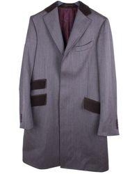 Etro Cappotti in lana grigio