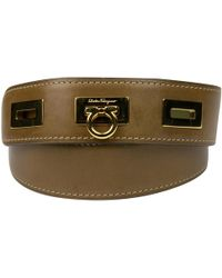 Ferragamo - Pre-owned Brown Leather Belts - Lyst
