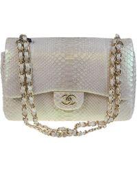 Chanel - Sac à main Timeless en python - Lyst