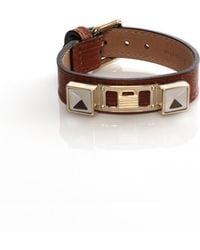 Proenza Schouler - Brown Leather Bracelets - Lyst