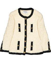 Chanel Vest en Laine Écru - Neutre