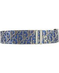 Dior - Blue Metal Bracelet - Lyst