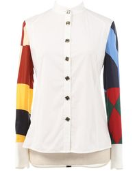 Tory Burch - Pre-owned White Cotton Tops - Lyst