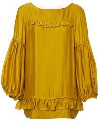 76df592f30085 Lyst - Stella McCartney Silk Blouse in Natural