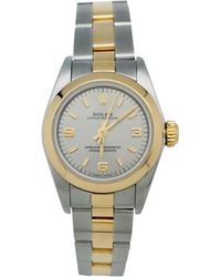 Rolex - Pre-owned Vintage Oyster Perpetual 34mm Other Gold And Steel Watches - Lyst