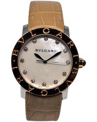 BVLGARI - Other Gold And Steel Watches - Lyst