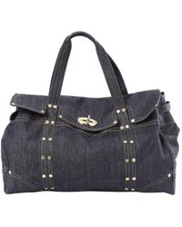 2601dc8810 Lyst - Mulberry  new Piccadilly  Midnight Nylon   Smooth Calf ...