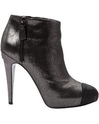 Chanel - Pre-owned Leather Ankle Boots - Lyst