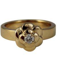Chanel - Bague Camélia en or jaune - Lyst