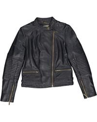 Michael Kors - Pre-owned Navy Leather Leather Jackets - Lyst