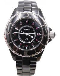 Chanel - Pre-owned J12 Quartz Ceramic Watch - Lyst
