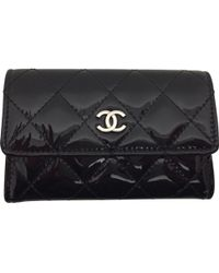 Chanel - Patent Leather Wallet - Lyst