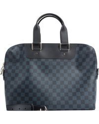 418aa1d09115 Lyst - Louis Vuitton Pre-owned Kourad Leather Satchel in Black for Men