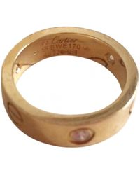 Cartier - Love Gold Yellow Gold Ring - Lyst