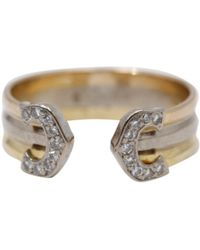 Cartier - Vintage C Gold Yellow Gold Ring - Lyst