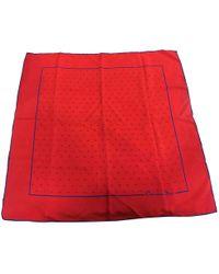Dior - Red Silk Silk Handkerchief - Lyst
