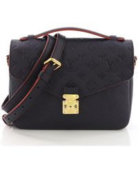 Louis Vuitton - Pre-owned Metis Blue Leather Handbags - Lyst