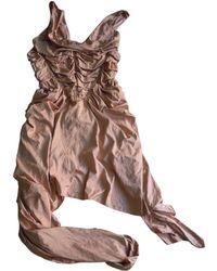 Jean Paul Gaultier - Silk Mid-length Dress - Lyst