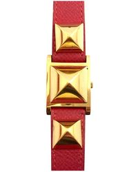 Hermès - Médor Yellow Gold Watch - Lyst