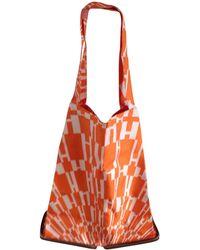 68c614214e9e Lyst - Hermès Silky City Mmshoulder Bag Purple Silk leather 0383 in ...