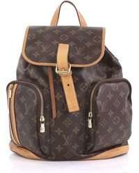 3de2ce62f66 Vestiaire Collective · Louis Vuitton - Bosphore Backpack Brown Cloth  Backpacks - Lyst