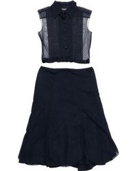 Chanel - Navy Polyester Dress - Lyst
