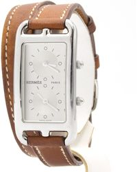 Hermès - Pre-owned Cape Cod Dual Time Silver Steel Watches - Lyst