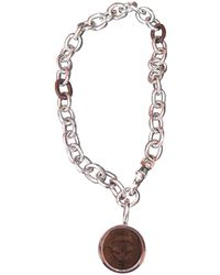 Chanel - Silver Necklace - Lyst