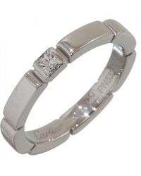 Cartier | Pre-owned Maillon Panthère White Gold Ring | Lyst