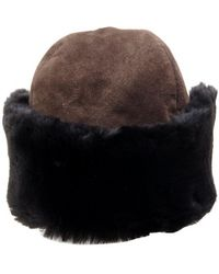 98954eb9f75 Hermès - Vintage Brown Synthetic Hats   Pull On Hats - Lyst