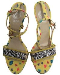 Versace Yellow Leather Sandals