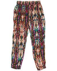 Sandro - Multicolour Silk Trousers - Lyst