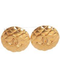 Chanel - Matelassé Earrings - Lyst