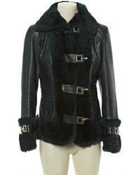 Dolce & Gabbana Green Leather Leather Jacket