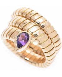 BVLGARI - Tubogas Gold Yellow Gold Ring - Lyst