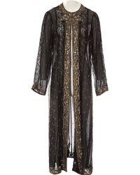 Oscar de la Renta - Black Silk Jacket - Lyst