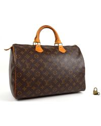 c012fb72e631 Louis Vuitton - Vintage Speedy Brown Leather Handbag - Lyst