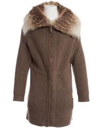 Yves Salomon - Brown Cashmere Jacket - Lyst