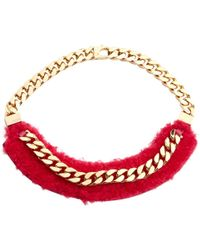 Fendi - Pre-owned Pink Leather Necklaces - Lyst