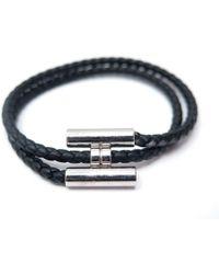 Lyst - Bracelet Tournis en cuir Hermès en coloris Noir 41f7ee9bdde