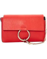 Chloé - Pre-owned Faye Leather Crossbody Bag - Lyst
