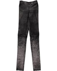 JOSEPH - Pre-owned Leather Slim Pants - Lyst